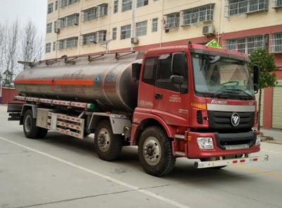 福田欧曼小三轴26方铝合金运油车